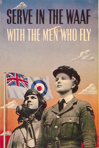 RAF Lady Poster WW2