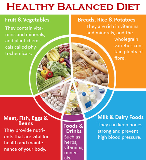 Balanced diet to lose weight