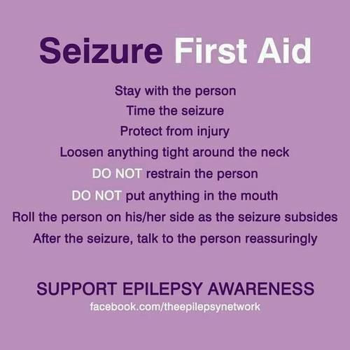 What to do in the event of an epileptic seizure