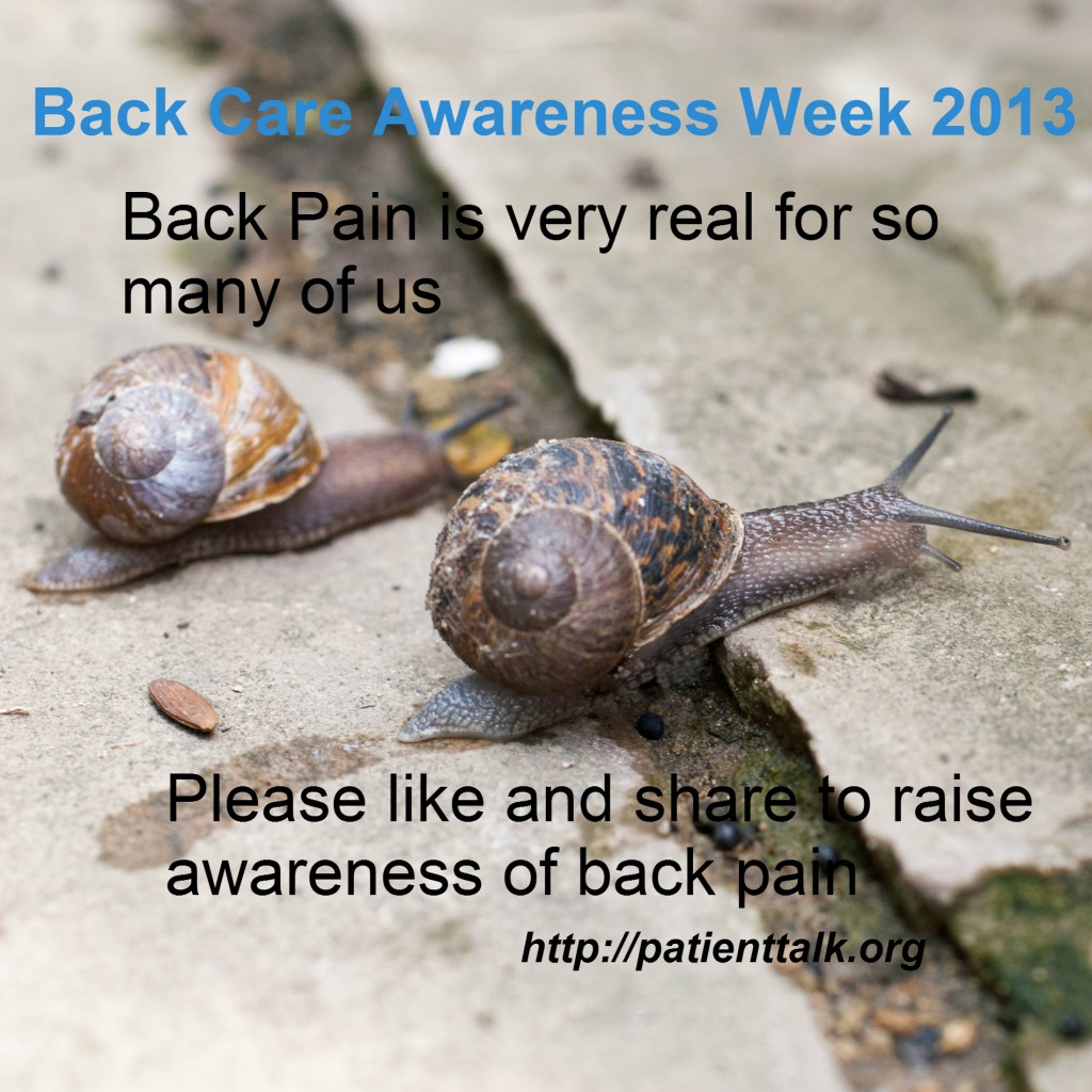 Back Care Awareness Week 2013 – Please like and share this page and ...