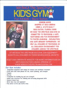 We Rock The Spectrum Kids Gym Boca Raton