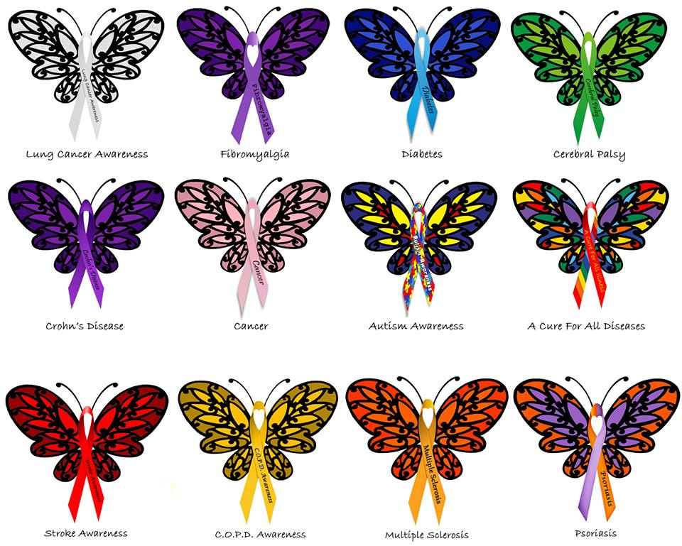 Donnee's Medical  Awareness Butterflies