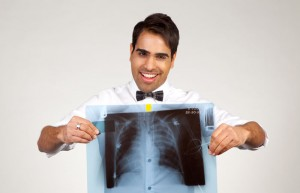 Dr Ranj with an xray