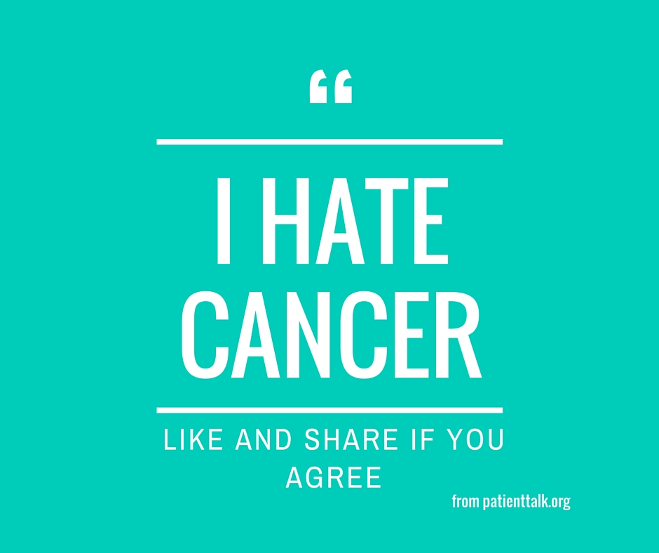 I hate cancer