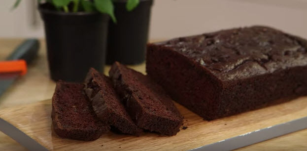 Chocolate courgette bread