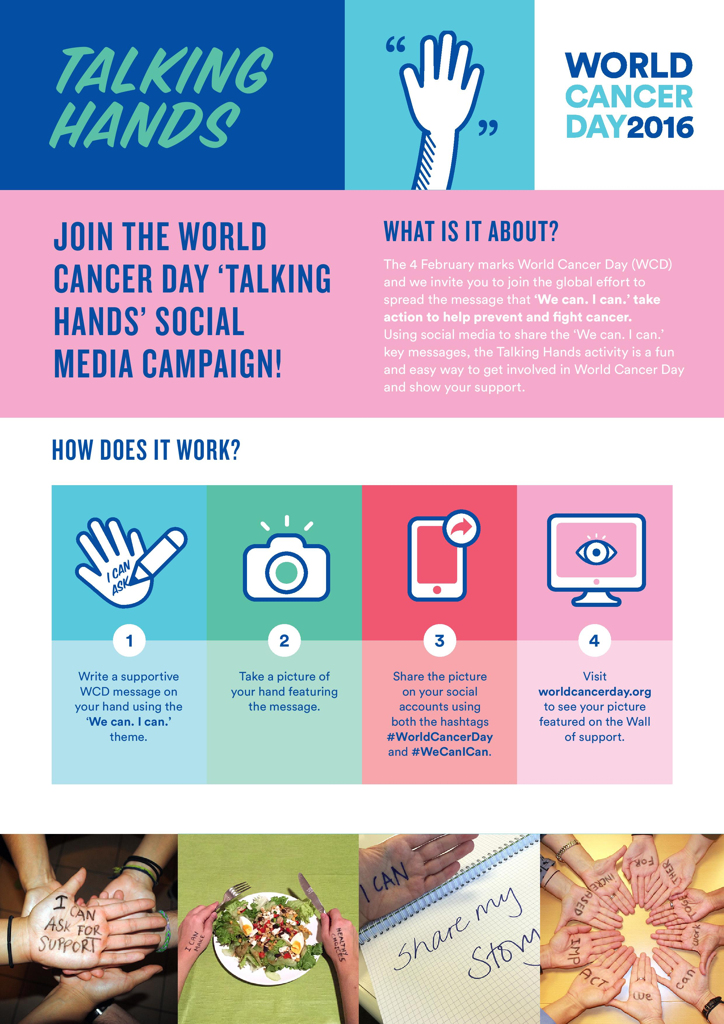 World Cancer Day 2016 - Talking Hands