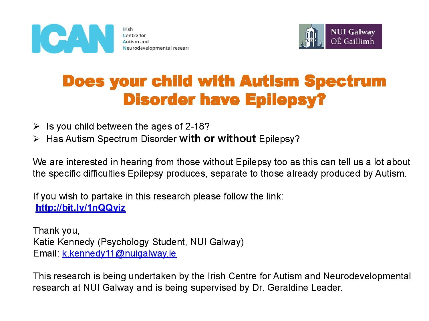 Epilepsy and Autism Research