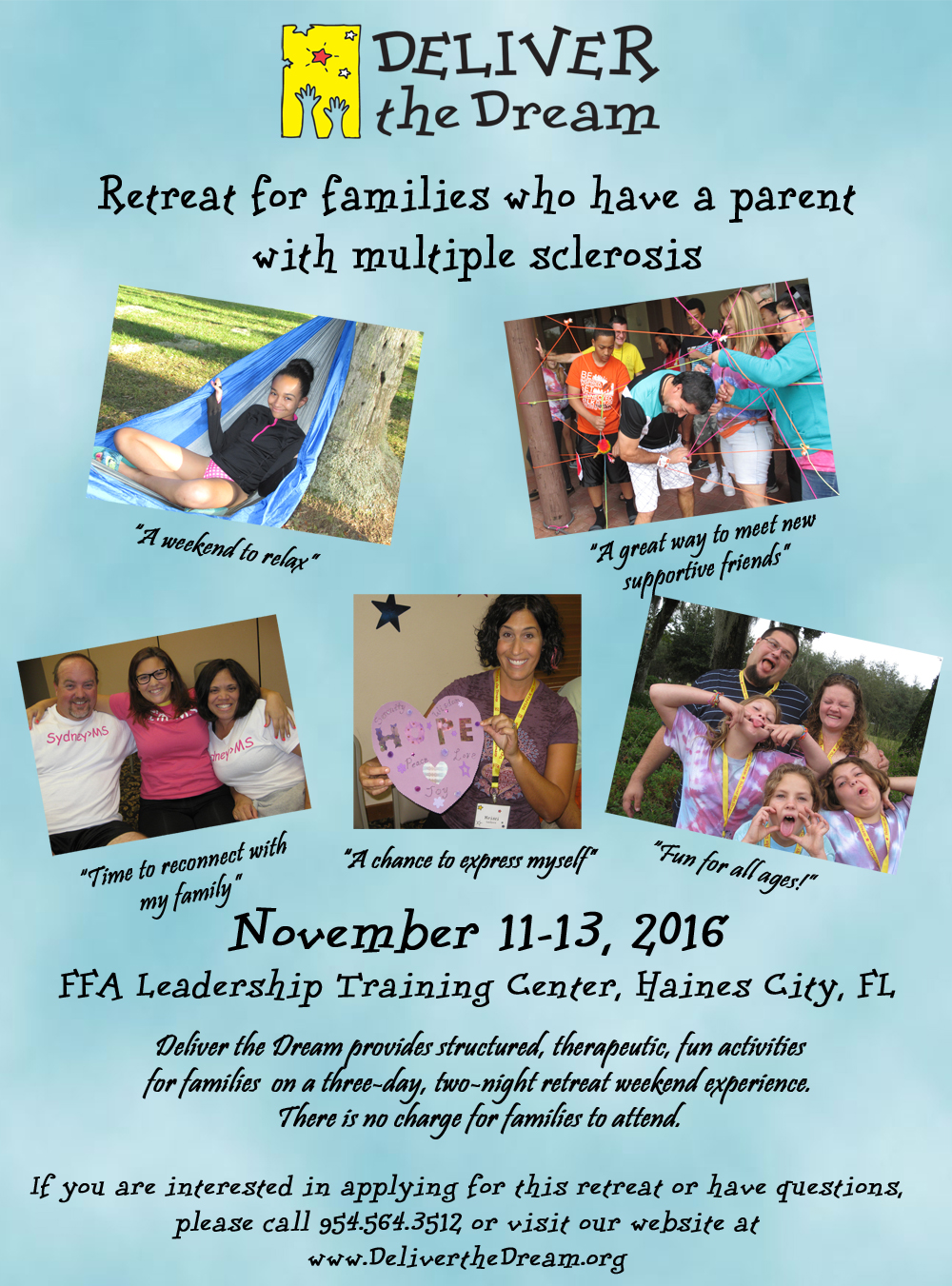 Retreat for families with a parent with multiple sclerosis