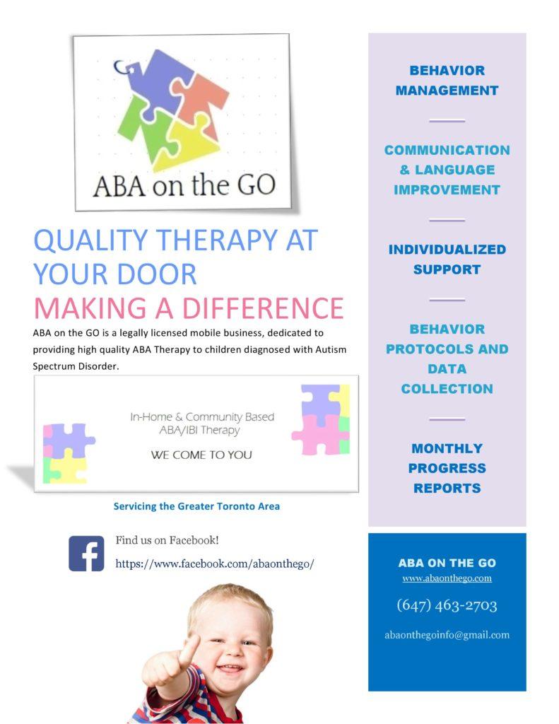 ABA in Toronto - Autism