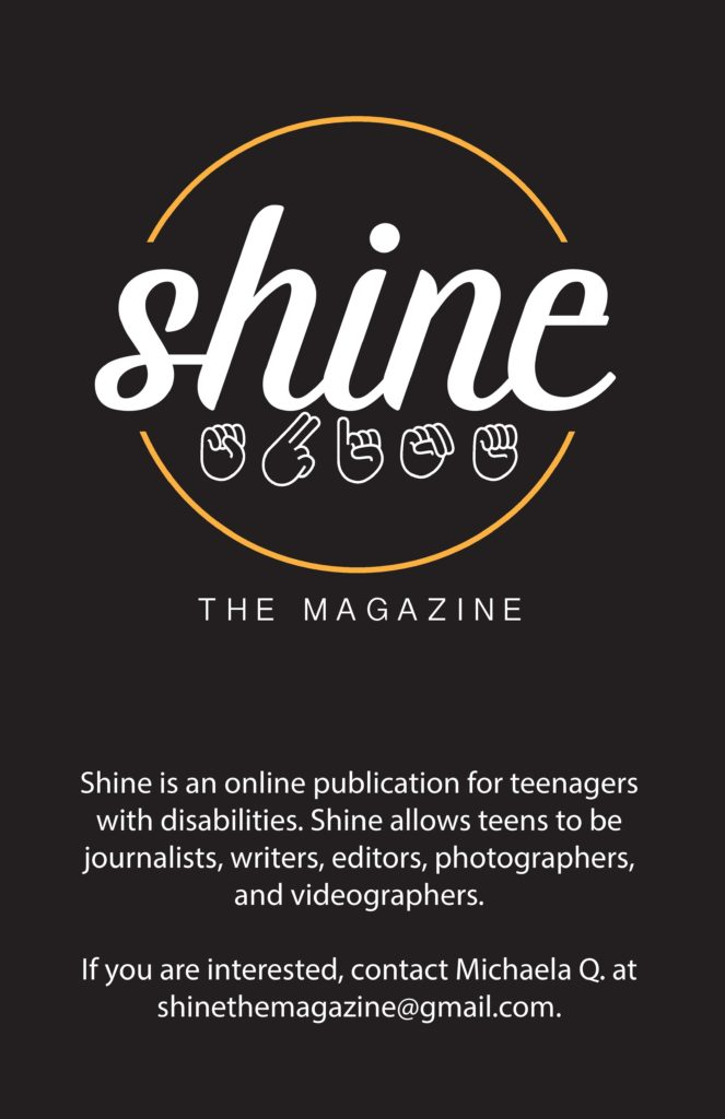 Shine a magazine for teens with disabilities