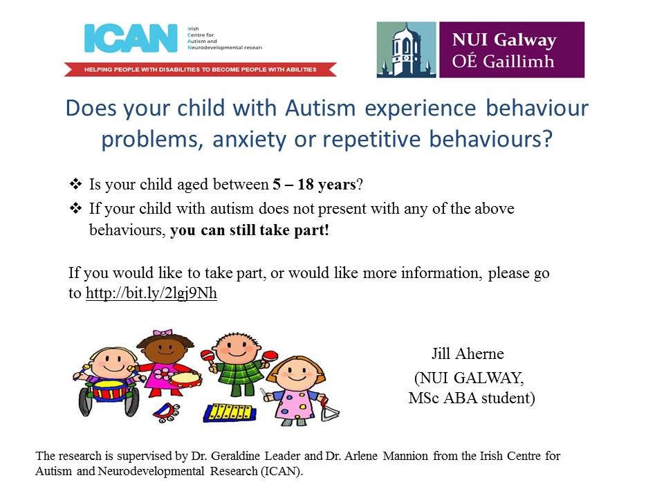Does your autistic child experience behaviour problems, anxiety and repetitive behaviours?