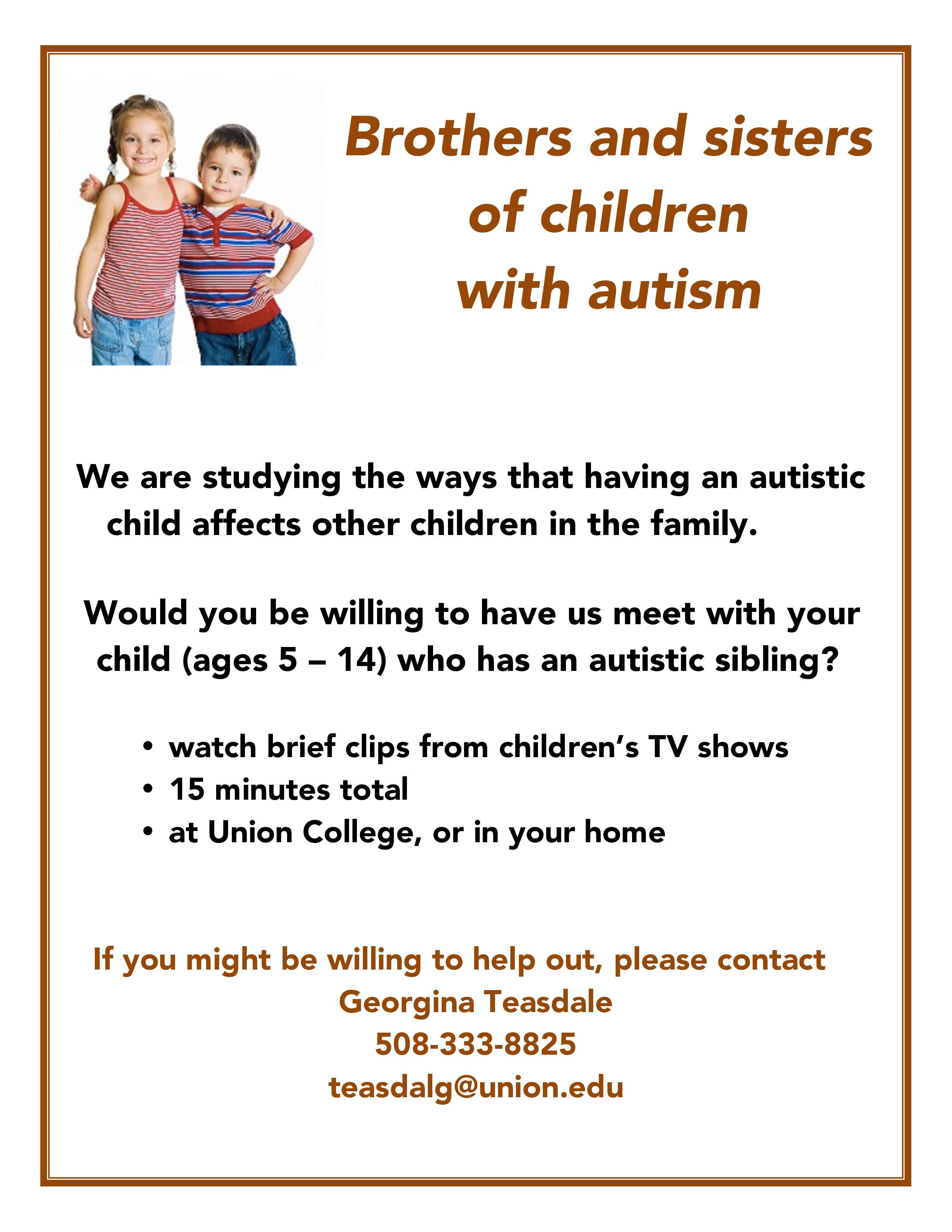 HOW DOES HAVING AN AUTISTIC CHILD AFFECT THE OTHER CHILDREN IN THE