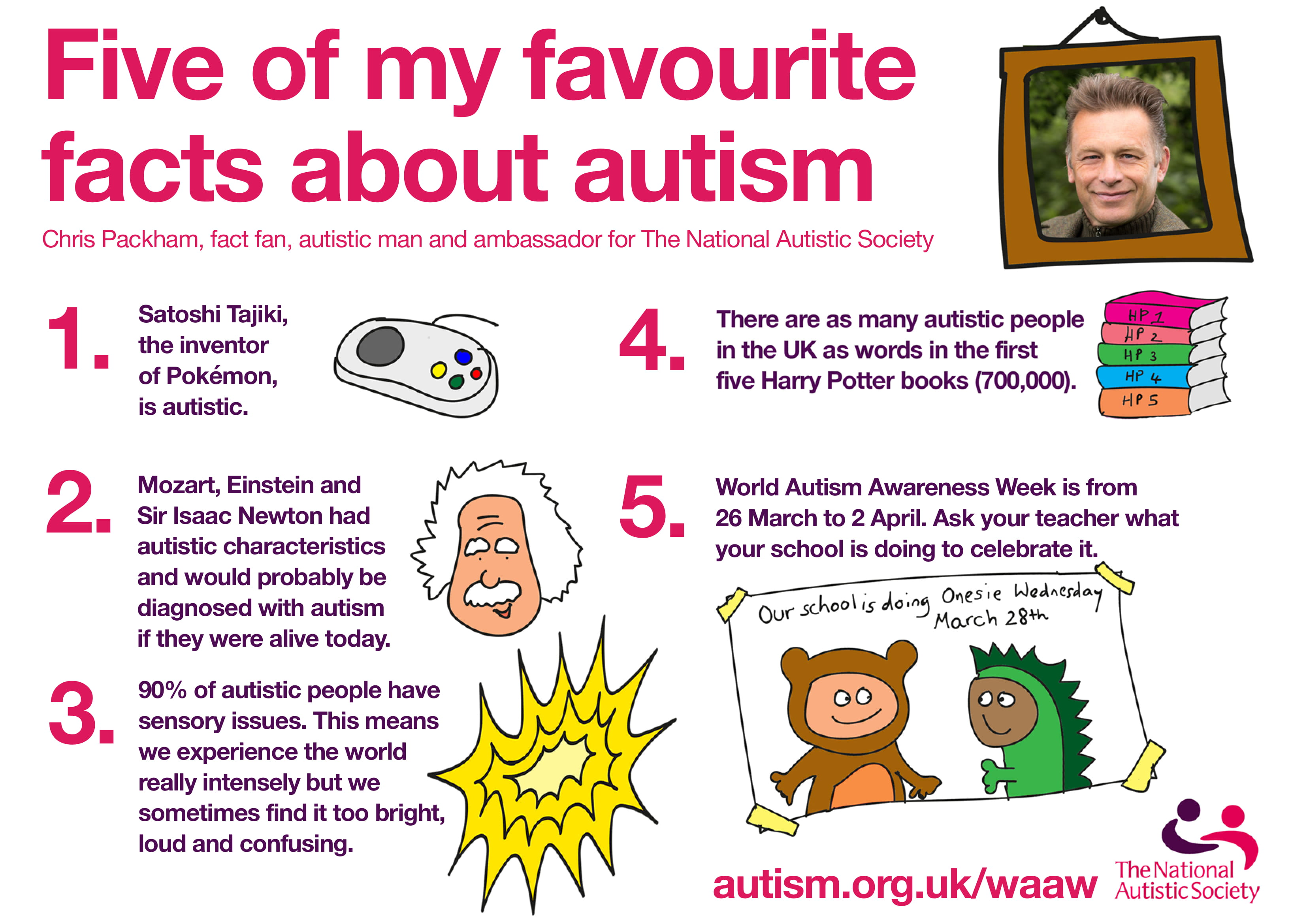 Your free Chris Packham poster for World Autism Awareness Week